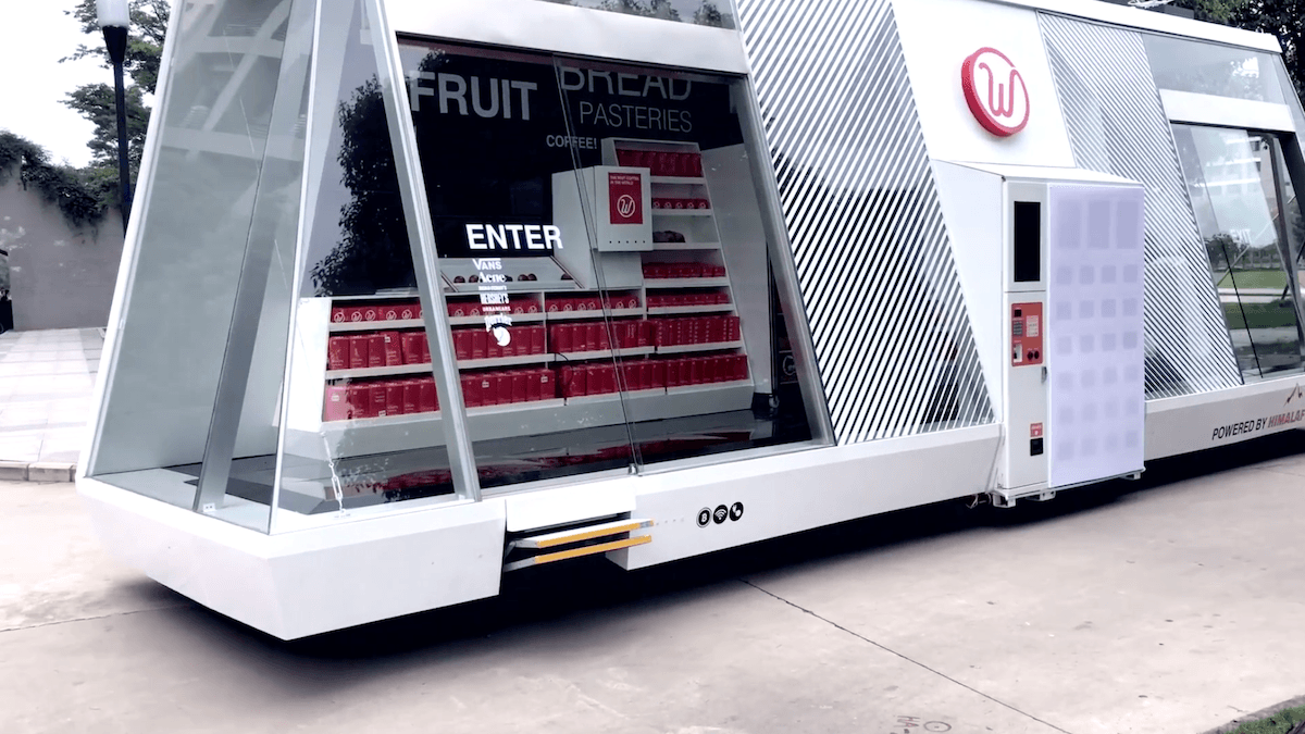 Mobymart - ein selbstfahrender, mobiler Laden der neuesten Generation